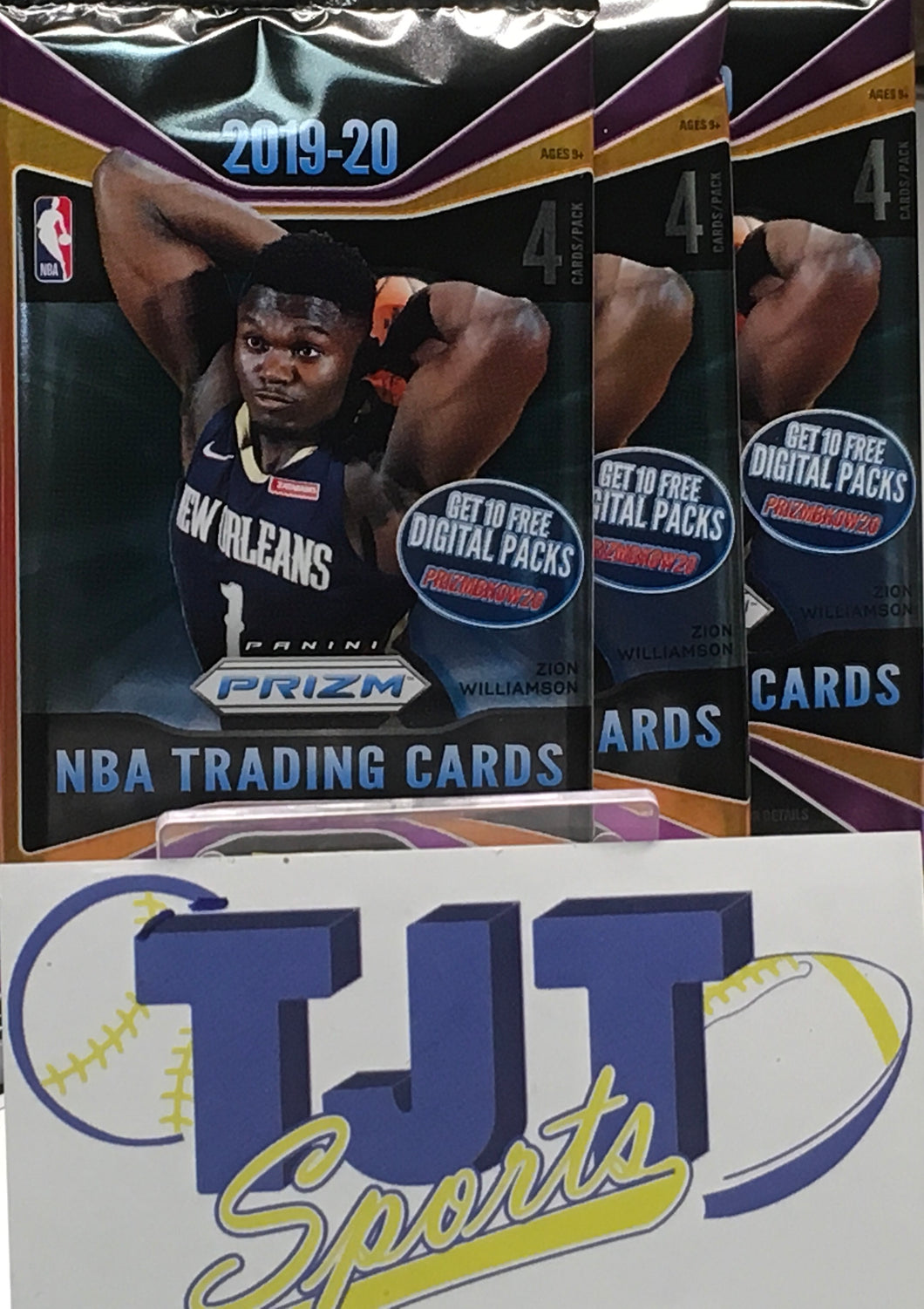 3 PACK LOT 2019-20 PRIZM BASKETBALL RETAIL