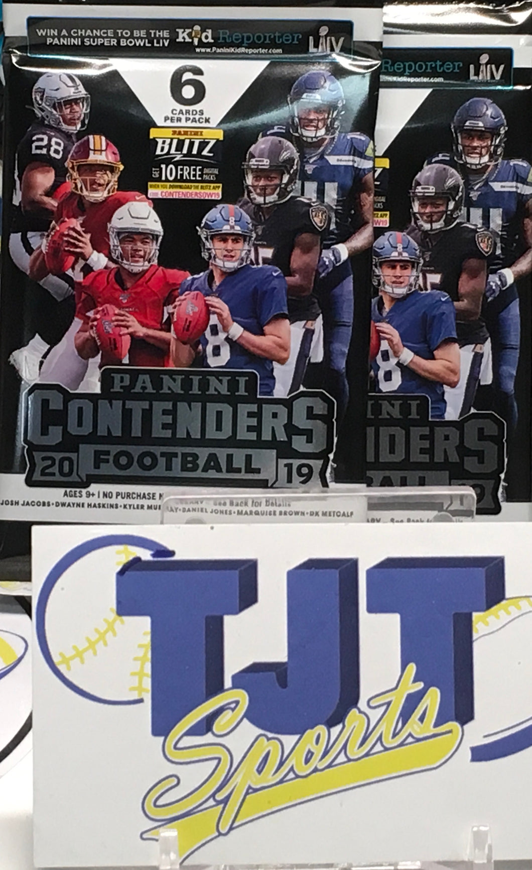 2 PACK LOT 2019 CONTENDERS FOOTBALL HOBBY