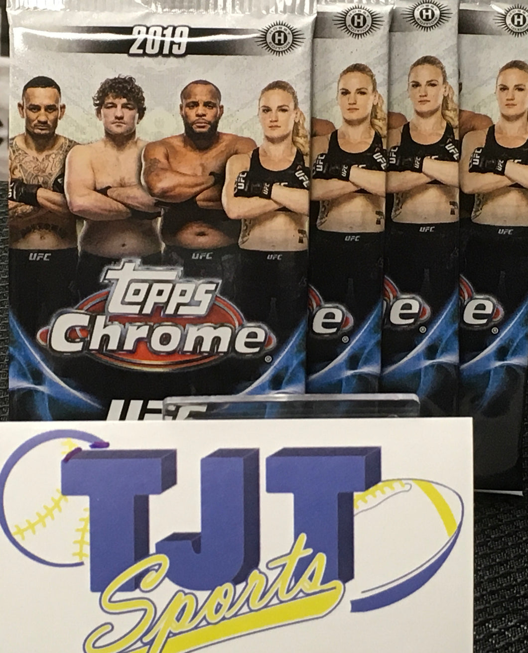 4 PACK LOT 2019 UFC CHROME HOBBY