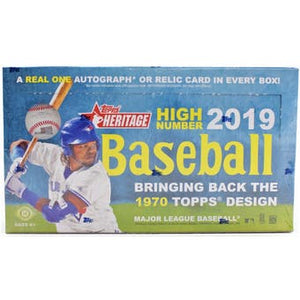 2019 Topps Heritage High Number Baseball Hobby Box SHIP SEALED ONLY