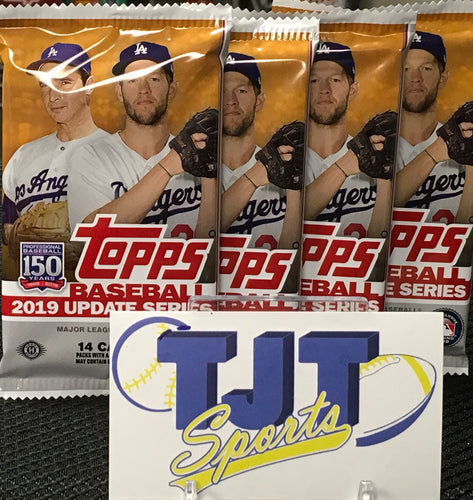 4 PACK LOT 2019 TOPPS UPDATE BASEBALL HOBBY