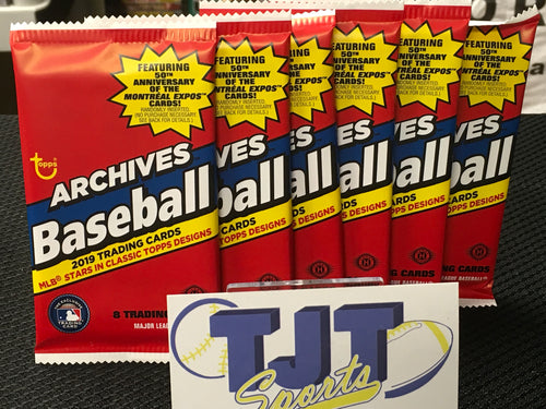 6 PACK LOT 2019 TOPPS ARCHIVES BASEBALL HOBBY