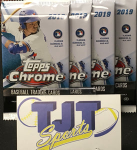 4 PACK LOT 2019 TOPPS CHROME BASEBALL HOBBY