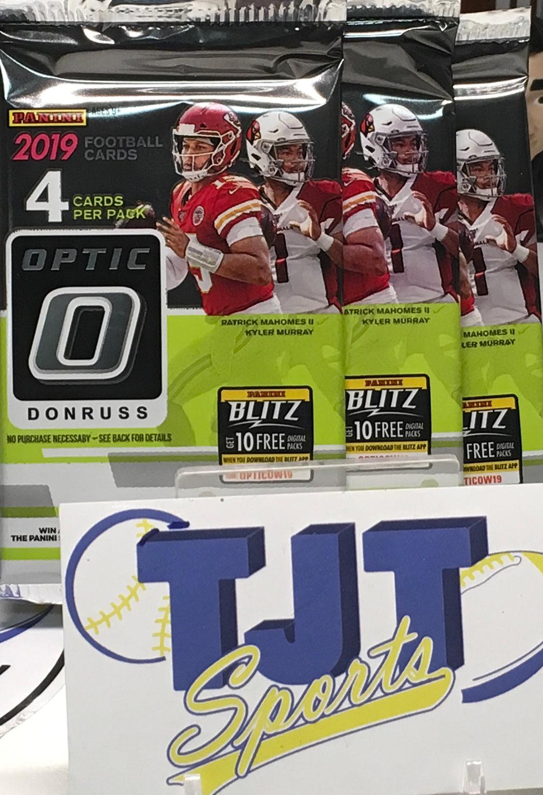 3 PACK LOT 2019 OPTIC FOOTBALL HOBBY