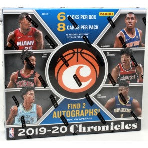 1 PACK 2019-20 CHRONICLES BASKETBALL HOBBY
