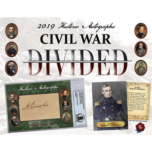 2019 Historic Autographs Civil War Divided Hobby Box IN STOCK