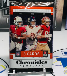 1 PACK 2019 CHRONICLES FOOTBALL HOBBY