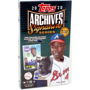2020 Topps Archives Signature Retired Player Edition Hobby Box