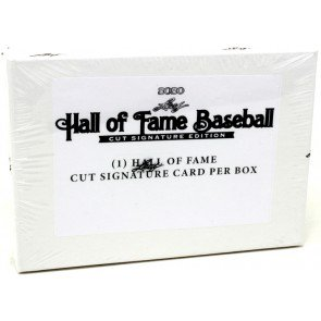 2020 Leaf Hall of Fame Cut Signature Edition Baseball Hobby Box