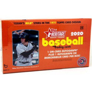 2020 Topps Heritage Minor League Baseball Hobby Box SHIP SEALED ONLY