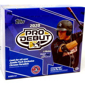 1 PACK 2020 TOPPS PRO DEBUT BASEBALL JUMBO
