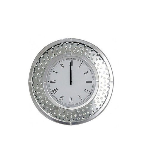 Crystal Decor Circle Clock