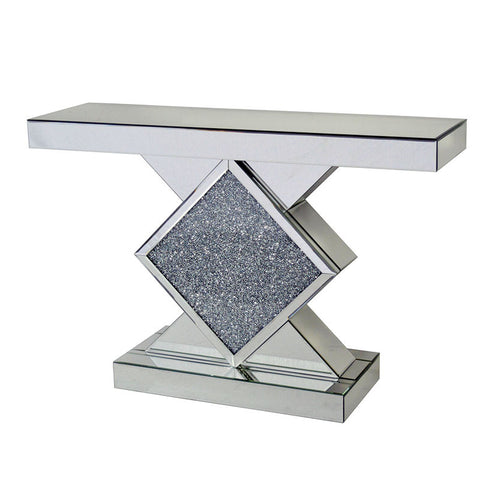 DIAMOND CRACKLE CONSOLE TABLE