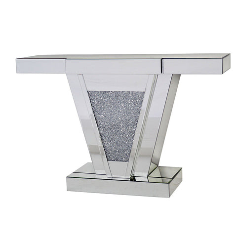 V SHAPE CRACKLE CONSOLE TABLE