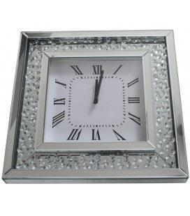 Crystal Decor Square Clock