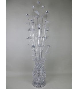 Silver LED Floor Lamp