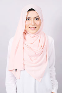 Plain Machine Rolled Shawl in Pearl Blush