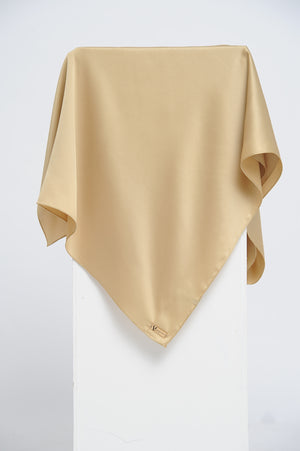 Aisha Satin Rectangle Shawl Golden Flakes Small Machine Rolled