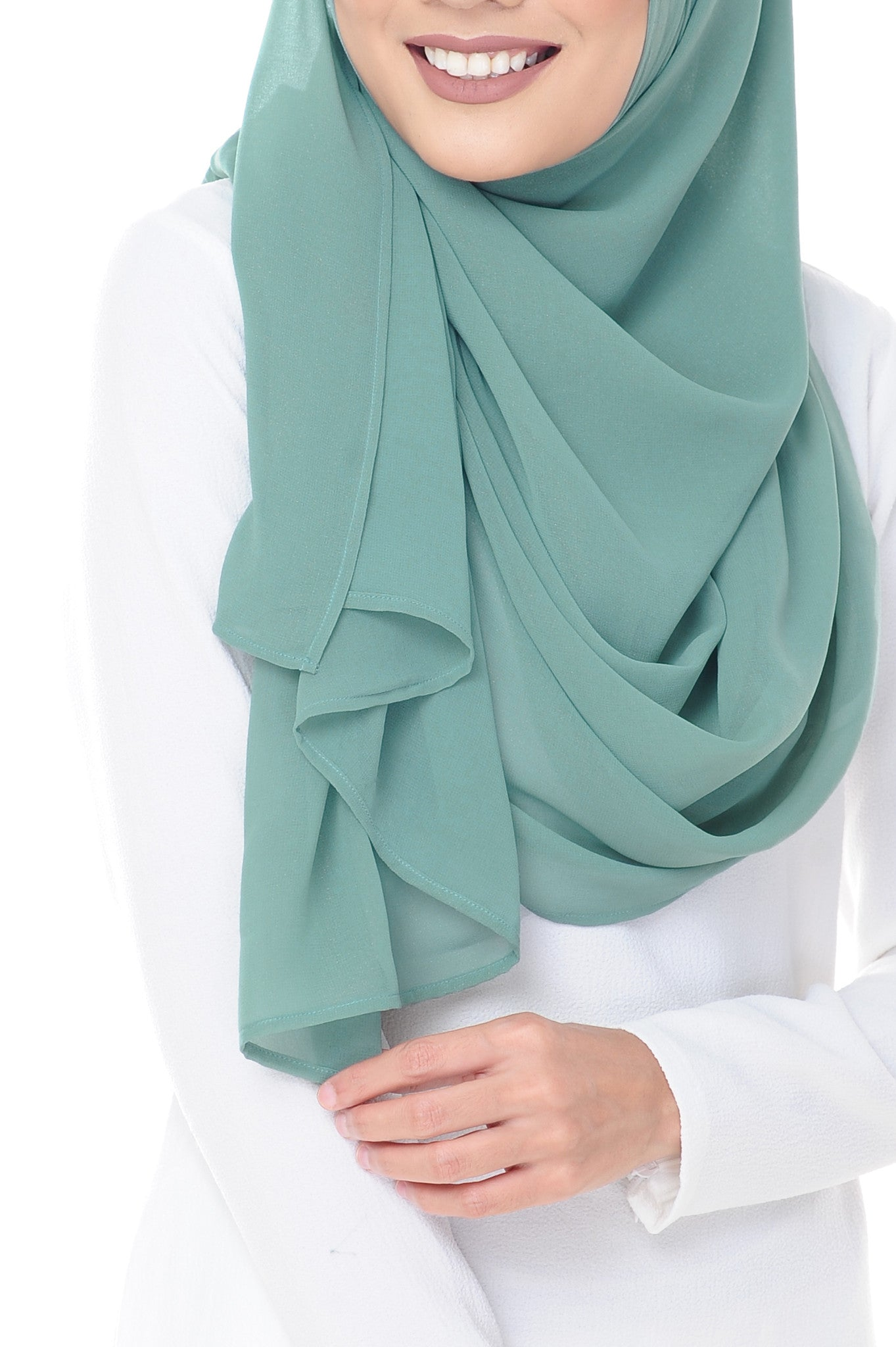 Marcella Instant Scarf in Aqua Mint
