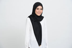 Cotton Square Scarf in Black