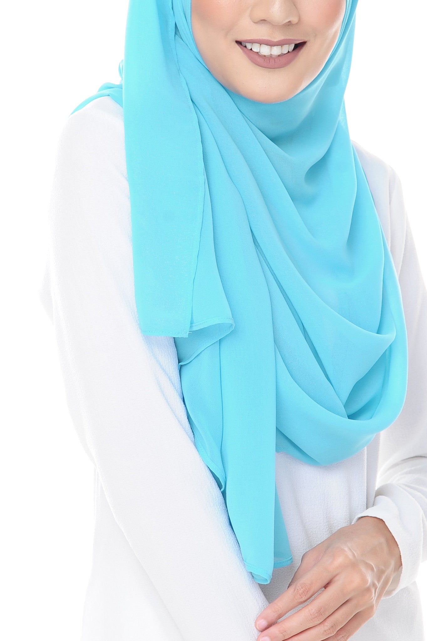 Marcella Instant Scarf in Brilliant Azure