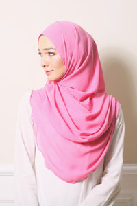 Essential Scarf Basic Shawl in Flamingo Pink