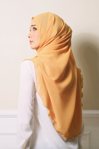 Essential Scarf Basic Shawl in Mustard