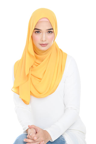 Essential Scarf Shimmering Series in Blazing Yellow