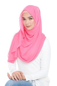 Essential Scarf Shimmering Series in Camellia Rose