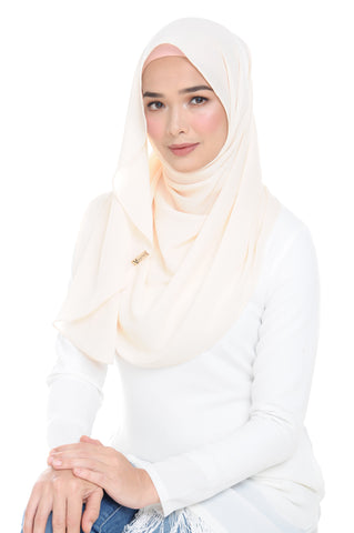 Essential Scarf Shimmering Series in French Vanilla