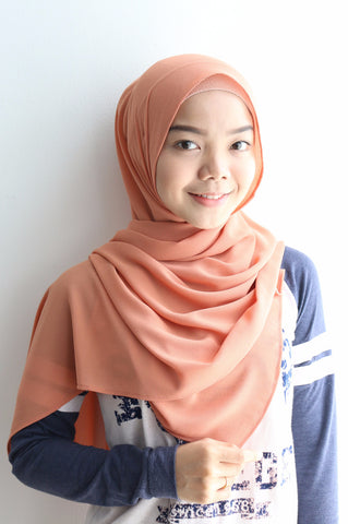 Basic Georgette Bright Peach