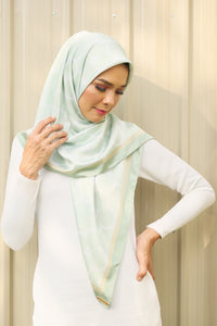 Jane Square Scarf in Foam Green