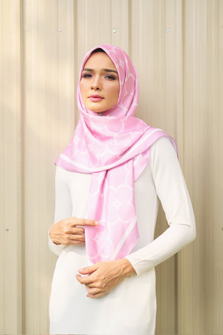 Jane Square Scarf in Sachet Pink
