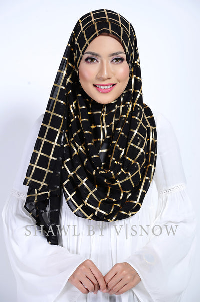 VS Marcella Instant Scarf in Golden Black