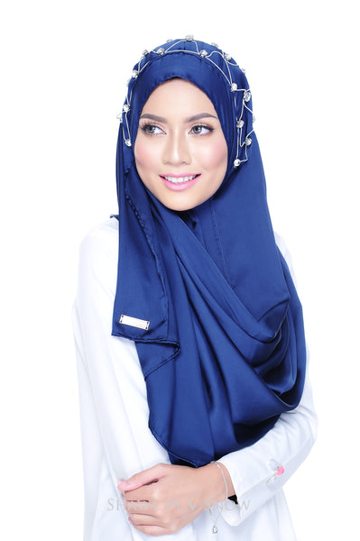 Tiara Instant Scarf in Royal Blue