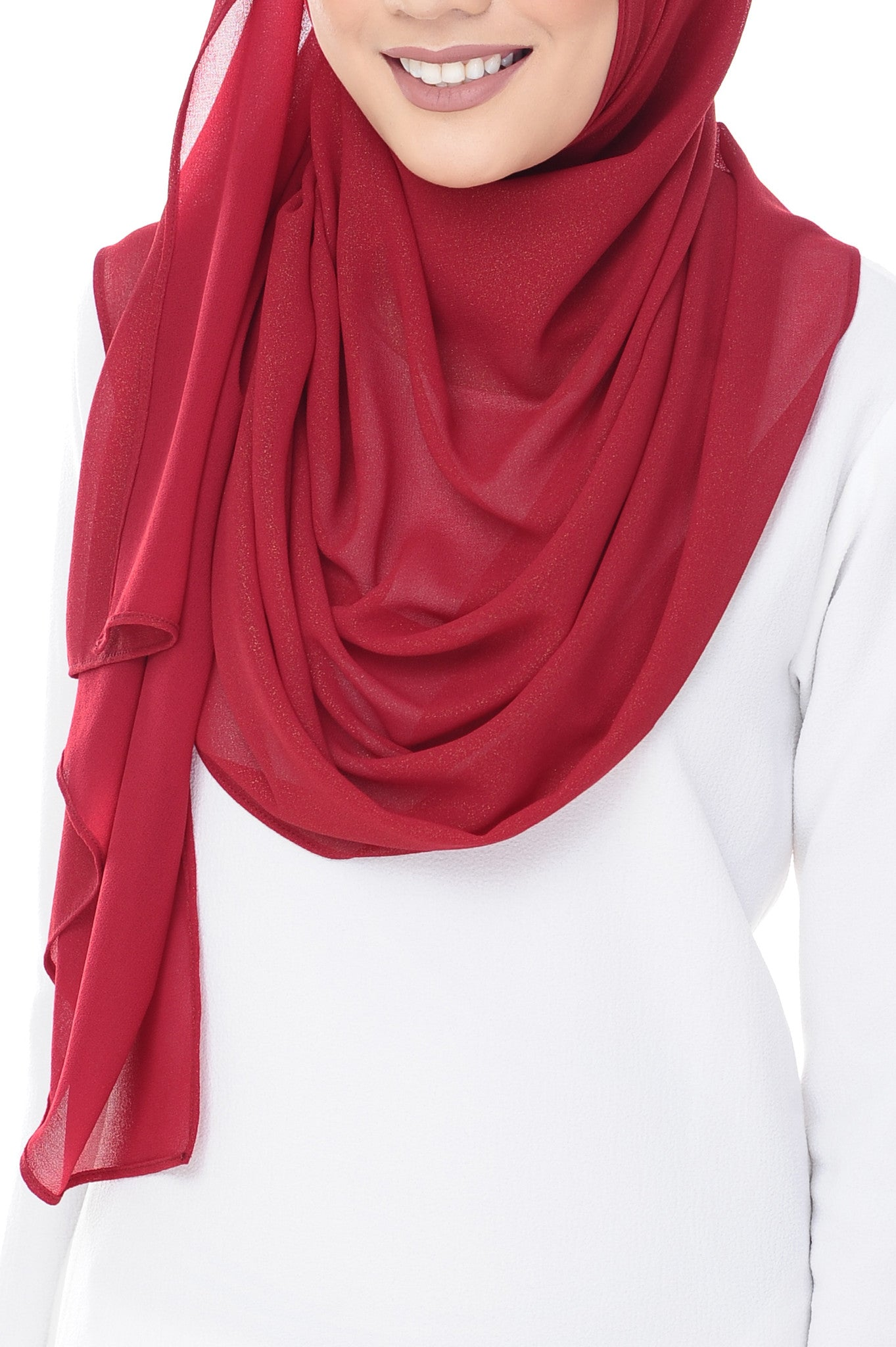 Marcella Instant Scarf in Maroon