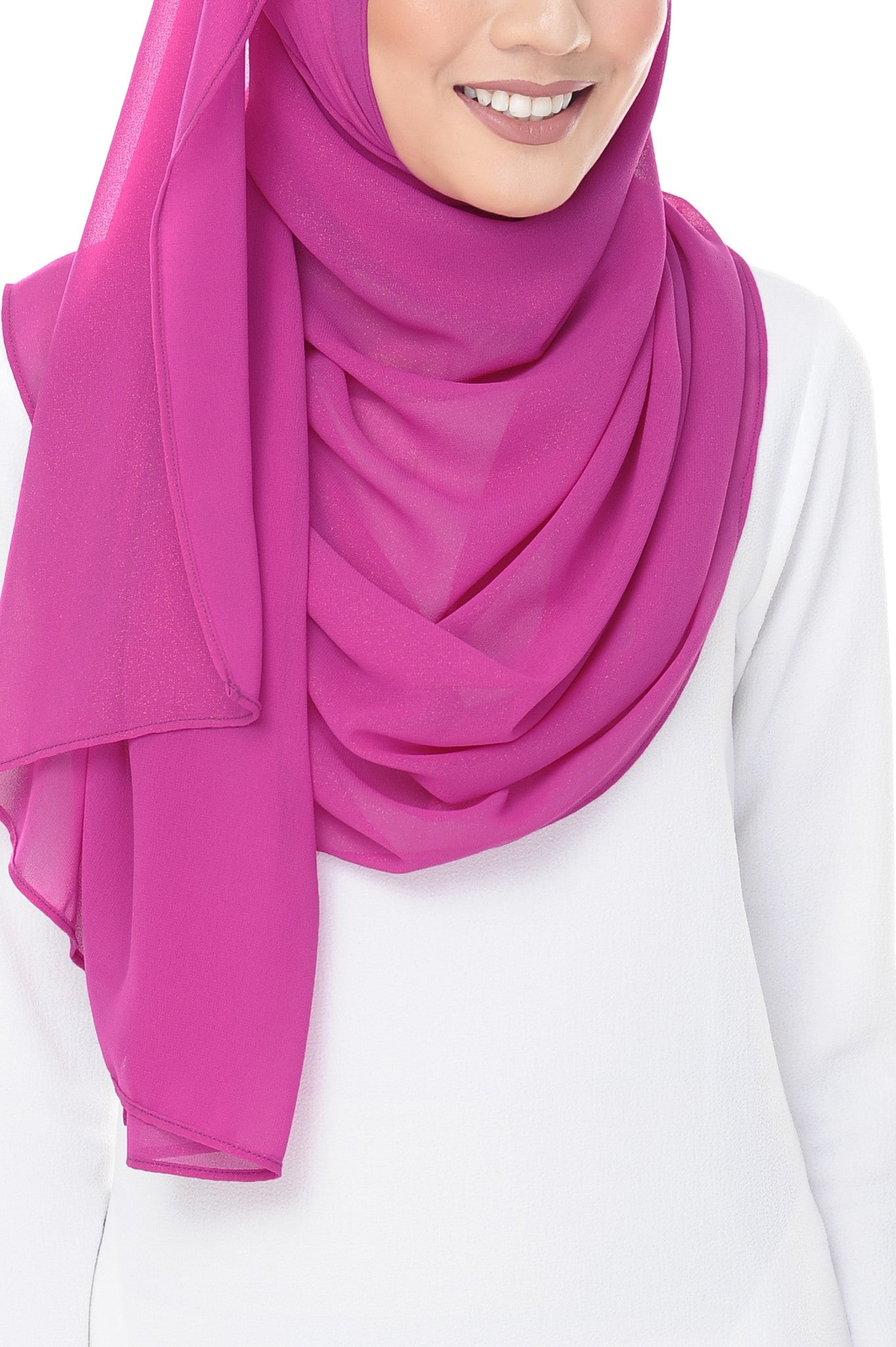 Marcella Instant Scarf in Mexican Pink