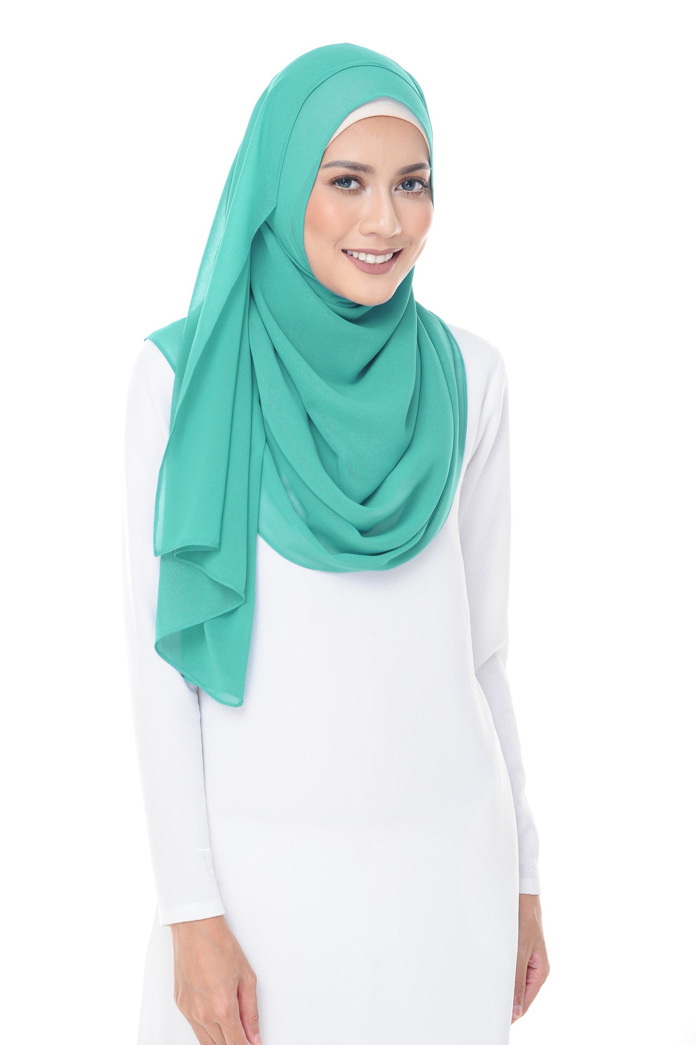 Marcella Instant Scarf in Mint Green
