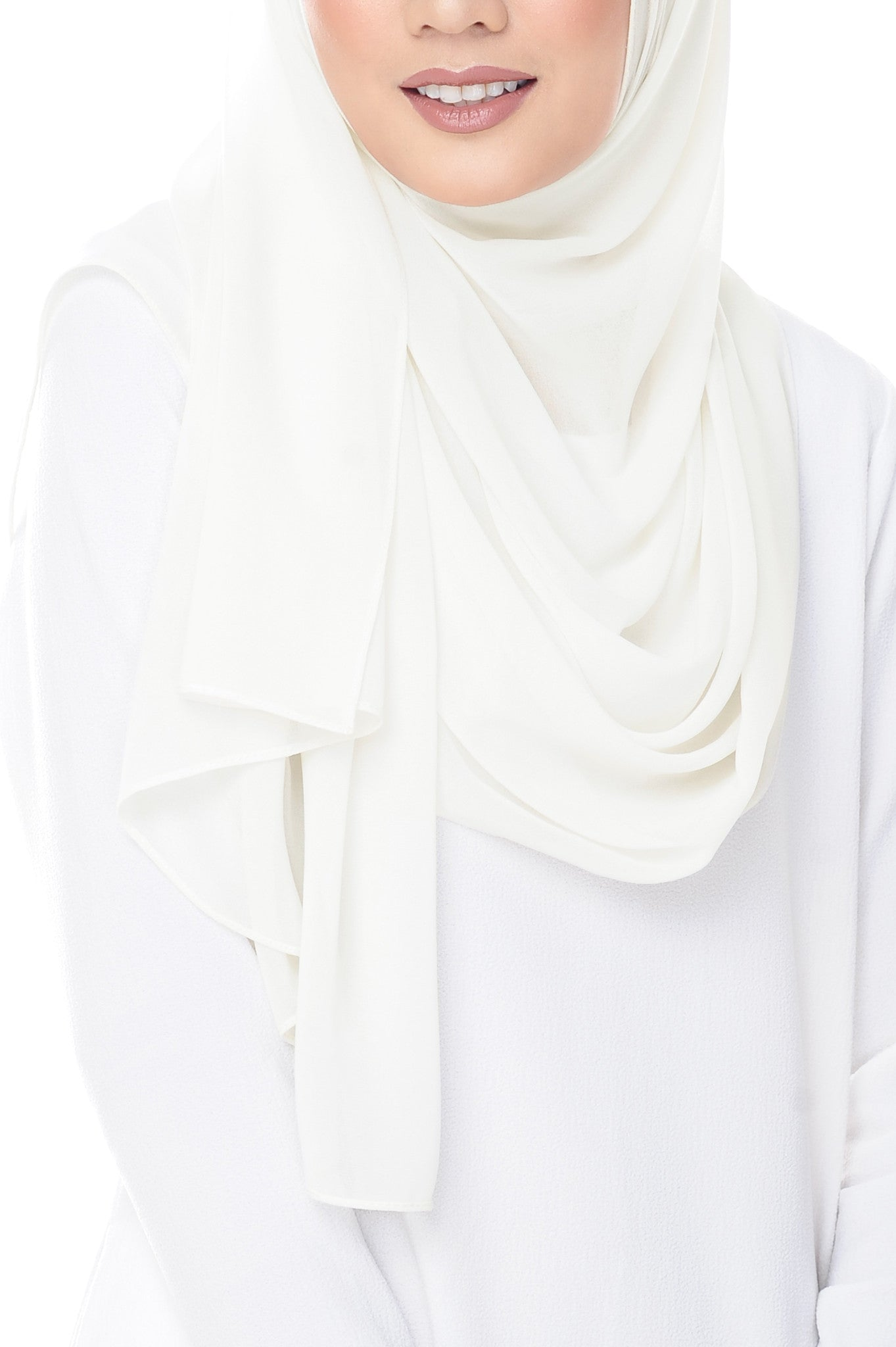Marcella Instant Scarf In Pearl White