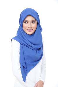 Premium Square Scarf in Boldin Blue