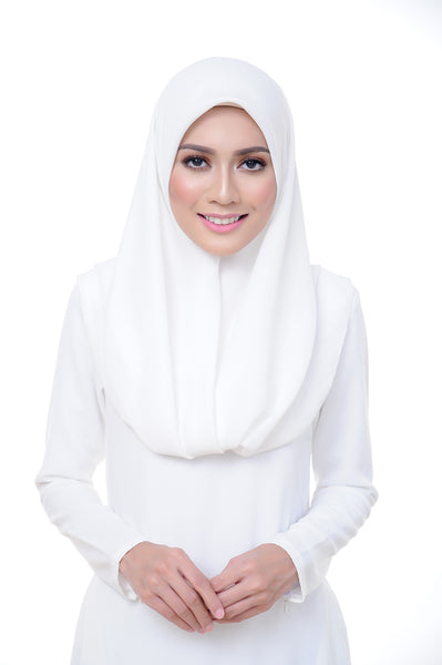 Premium Square Scarf in Brilliant White