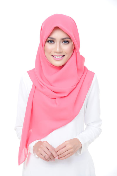 Premium Square Scarf in Candy Pink