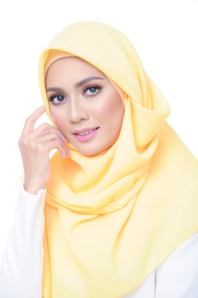 Premium Square Scarf in Dida Yellow
