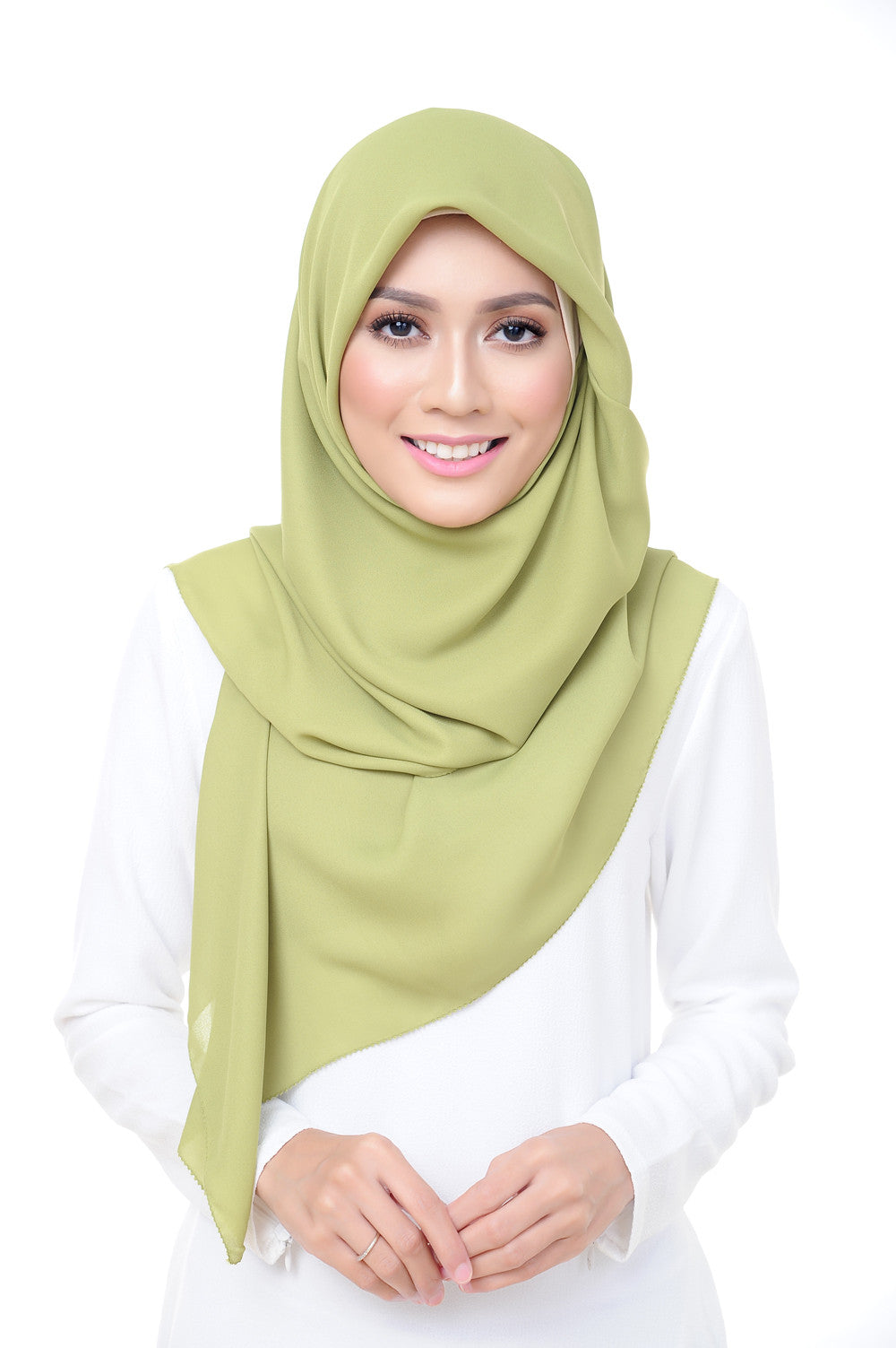 Premium Square Scarf in Sunny Lime