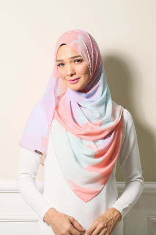 Rose & Serenity ( 2.0 Peach Edition ) Shawl