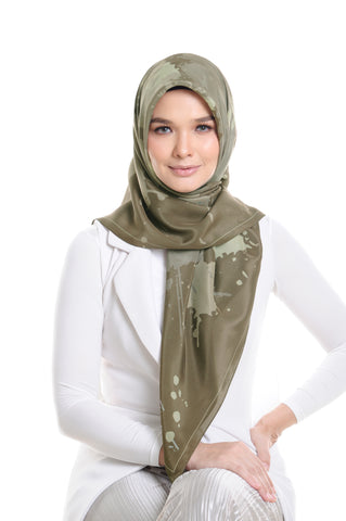 Fountain Silk Square Scarf in Herbs