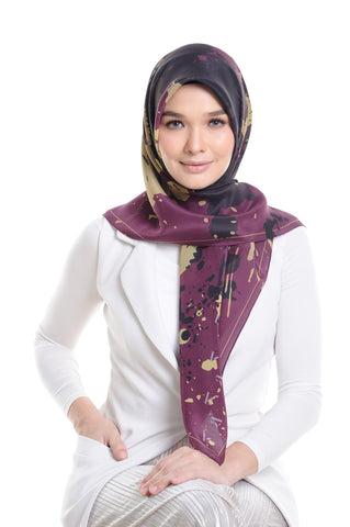 Fountain Silk Square Scarf in Hawthorn Rose
