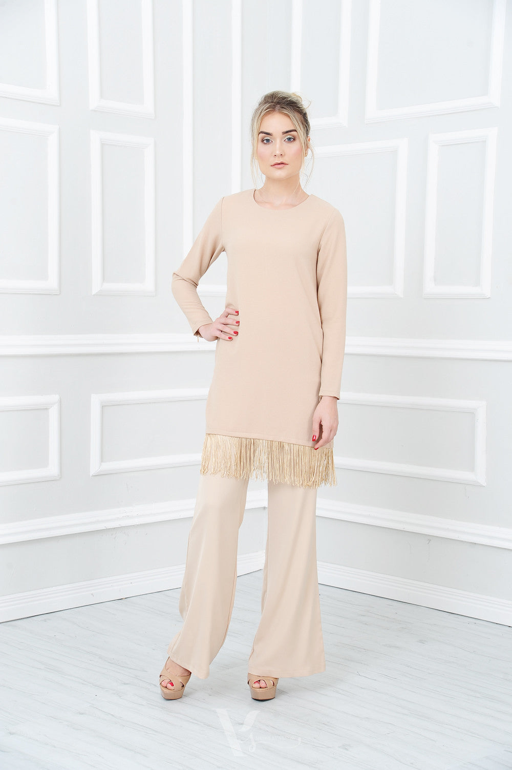 Tassel Top in Light Brown