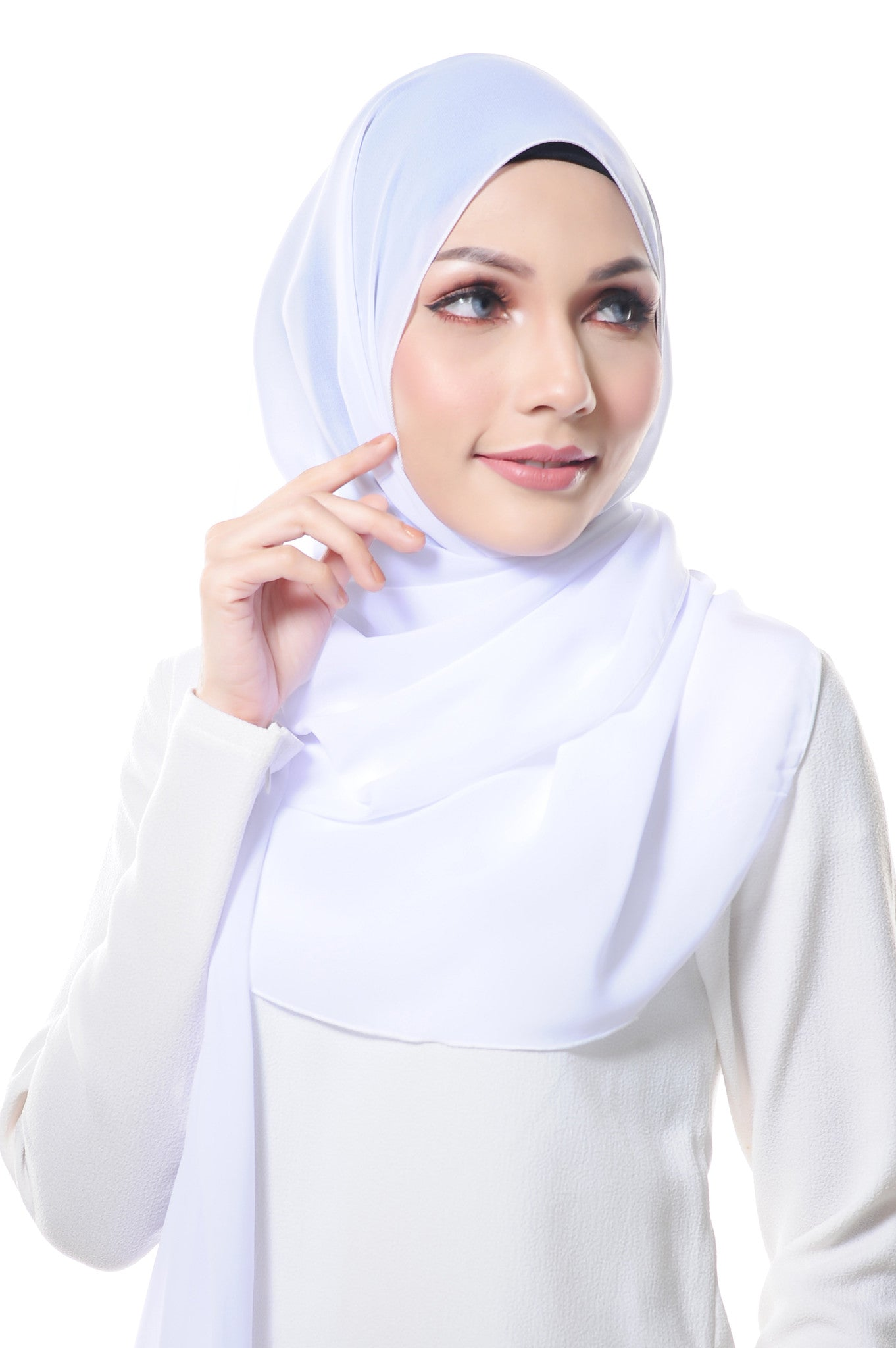 Essential Scarf Basic Series in Pure White