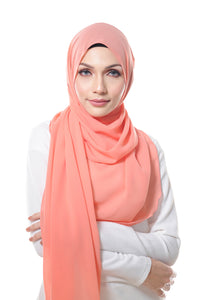Essential Scarf Basic Series in Atomic Tangerine